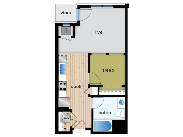 Floor Plan A1 | Elan | Apartments in Fitchburg, WI