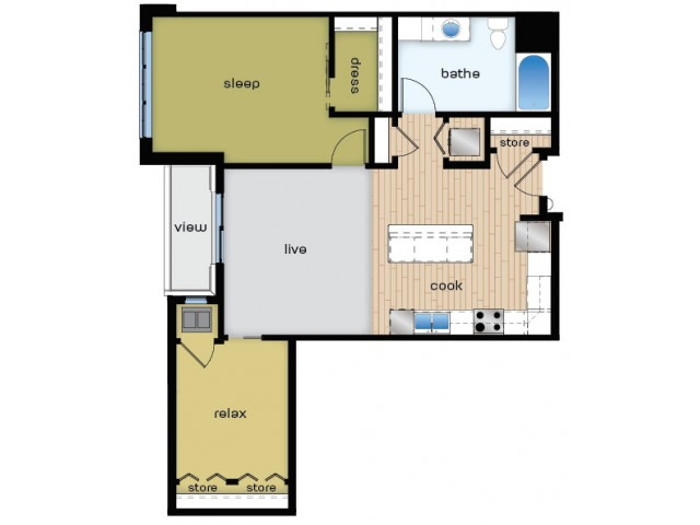 Floor Plan C1 | Elan | Apartments in Fitchburg, WI