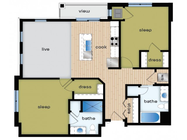 Floor Plan D2 | Elan | Apartments in Fitchburg, WI