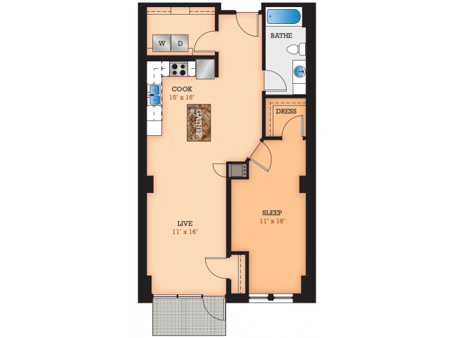 Floor Plan C2 | Domain | Apartments in Madison, WI