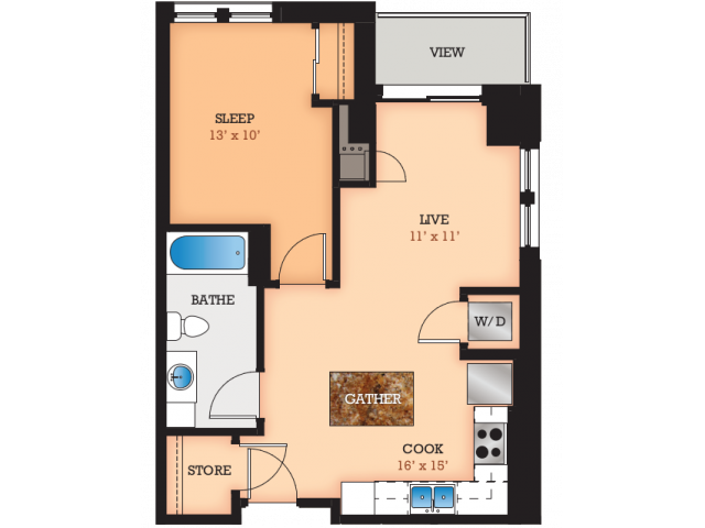 Floor Plan G | Domain | Apartments in Madison, WI
