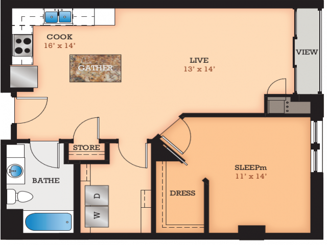 Floor Plan Q | Domain | Apartments in Madison, WI