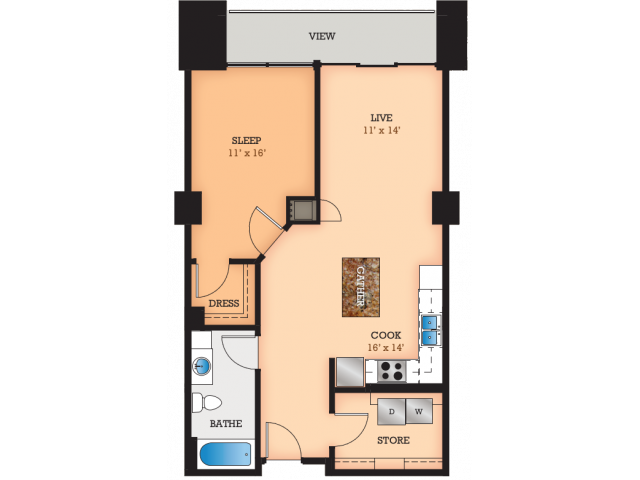 Floor Plan C1 | Domain | Apartments in Madison, WI