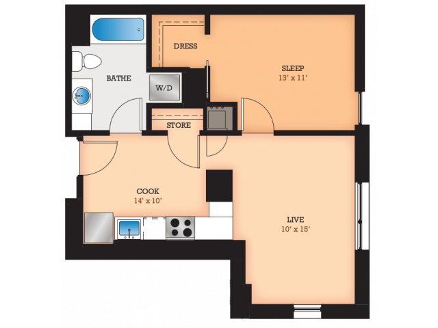 Floor Plan B2 | Domain | Apartments in Madison, WI