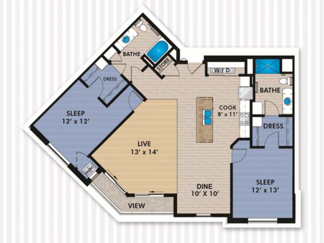 Floor Plan E2 | The Woodlands Apartments | Apartments in Menomonee Falls, WI