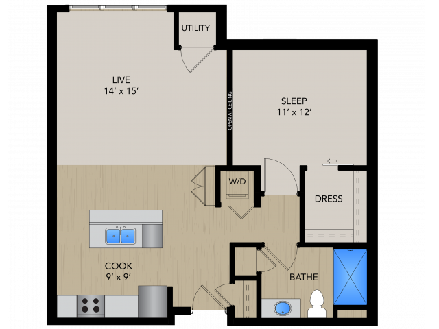 Floor Plan SC | 1505 Apartments | Apartments in Grafton, WI