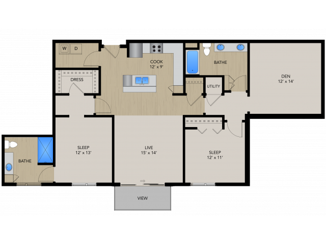 Floor Plan 2F | 1505 Apartments | Apartments in Grafton, WI