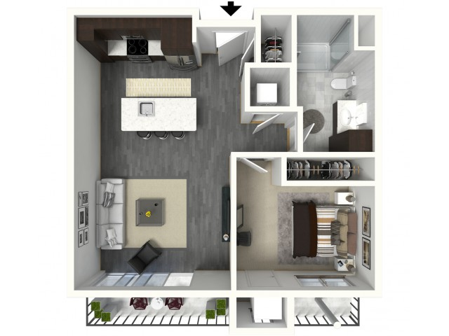 Floor Plan B4 | Synergy at the Mayfair Collection | Apartments in Wauwatosa, WI