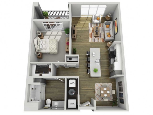 Floor Plan 1H | State Street Station | Apartments in Wauwatosa, WI