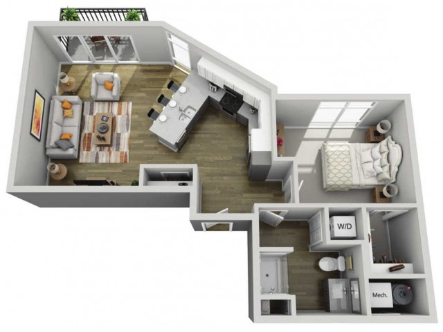 Floor Plan 1F | State Street Station | Apartments in Wauwatosa, WI