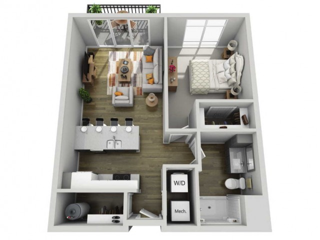 Floor Plan 1C | State Street Station | Apartments in Wauwatosa, WI