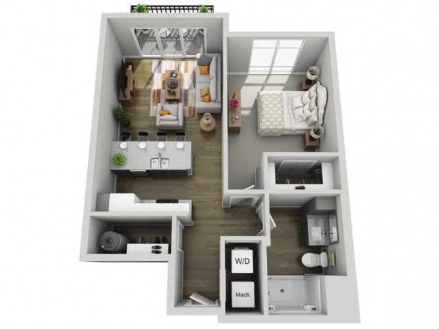 Floor Plan 1D | State Street Station | Apartments in Wauwatosa, WI