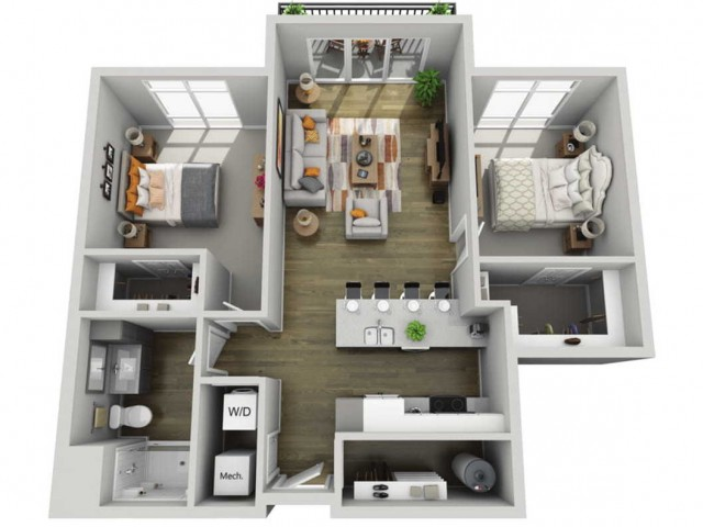 Floor Plan 2A | State Street Station | Apartments in Wauwatosa, WI