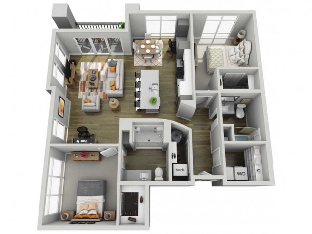 Floor Plan 2F | State Street Station | Apartments in Wauwatosa, WI