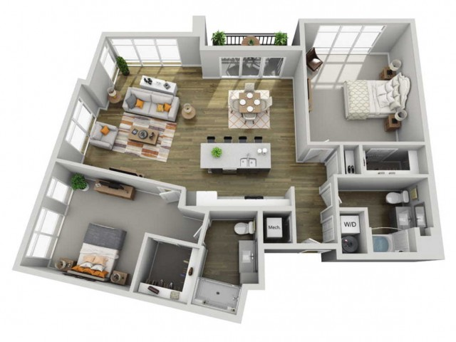 Floor Plan 2I | State Street Station | Apartments in Wauwatosa, WI