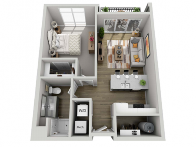 Floor Plan 1B | State Street Station | Apartments in Wauwatosa, WI