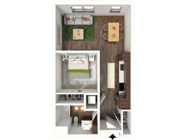 Floor Plan A3 | Jade at North Hills | Apartments in Menomonee Falls, WI