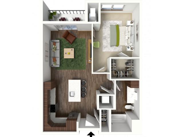 Floor Plan B2 | Jade at North Hills | Apartments in Menomonee Falls, WI