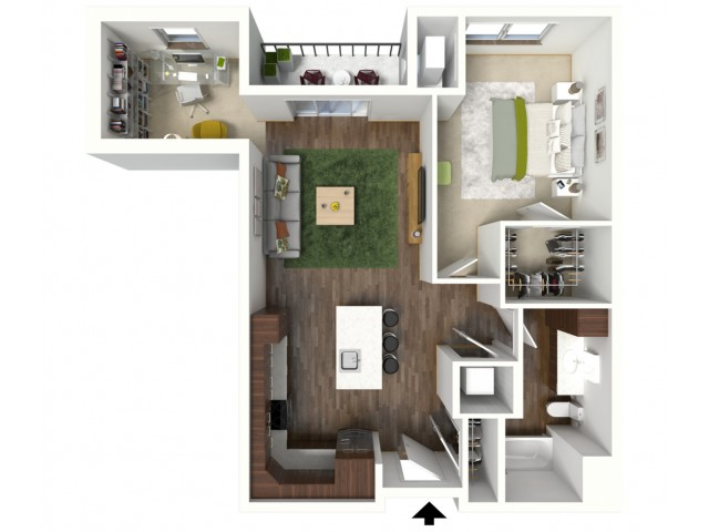 Floor Plan C3 | Jade at North Hills | Apartments in Menomonee Falls, WI