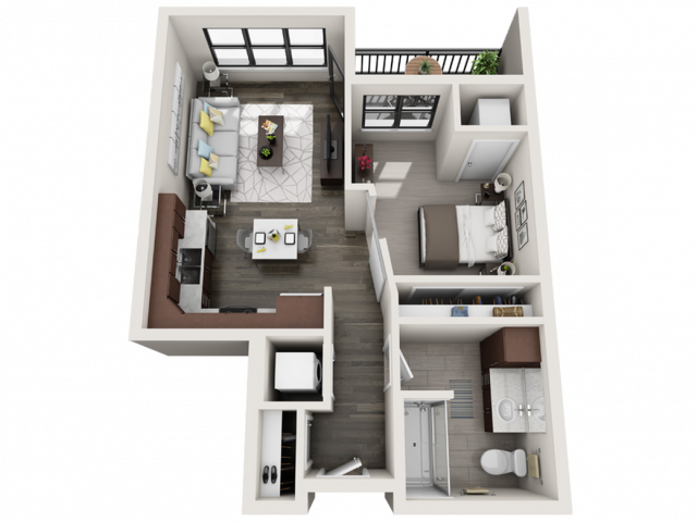 Floor Plan B2 | Synergy at the Mayfair Collection | Apartments in Wauwatosa, WI
