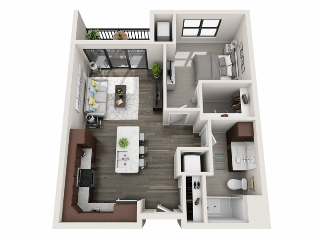 Floor Plan B5.1 | Synergy at the Mayfair Collection | Apartments in Wauwatosa, WI