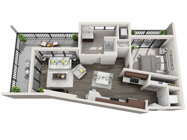 Floor Plan B6 | Synergy at the Mayfair Collection | Apartments in Wauwatosa, WI