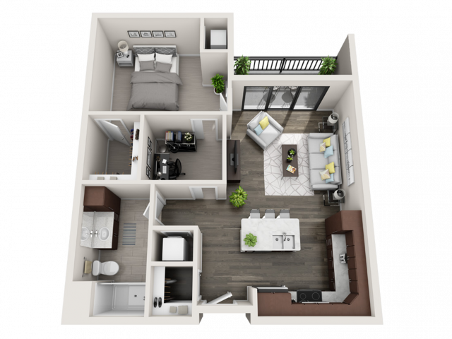 Floor Plan C2 | Synergy at the Mayfair Collection | Apartments in Wauwatosa, WI