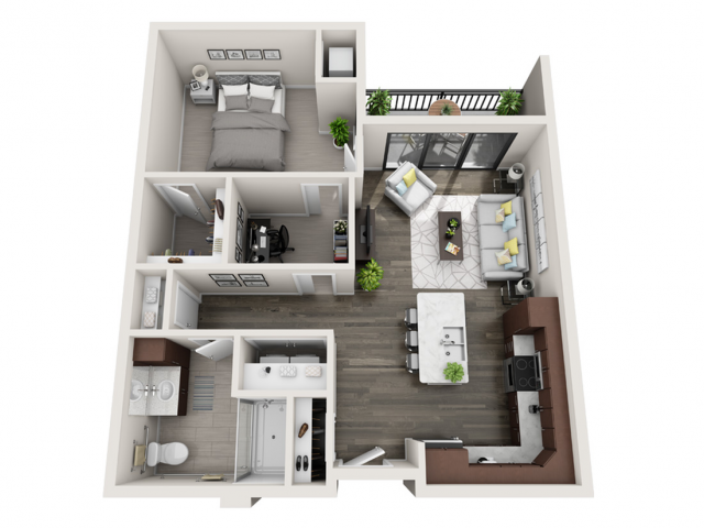 Floor Plan C2A | Synergy at the Mayfair Collection | Apartments in Wauwatosa, WI