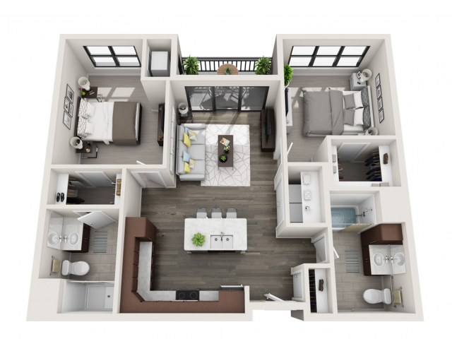 Floor Plan D2A | Synergy at the Mayfair Collection | Apartments in Wauwatosa, WI