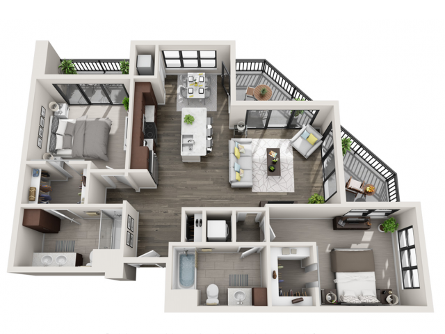 Floor Plan D3 | Synergy at the Mayfair Collection | Apartments in Wauwatosa, WI