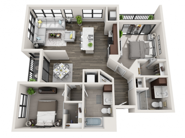 Floor Plan D4 | Synergy at the Mayfair Collection | Apartments in Wauwatosa, WI