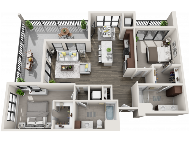 Floor Plan D3M | Synergy at the Mayfair Collection | Apartments in Wauwatosa, WI