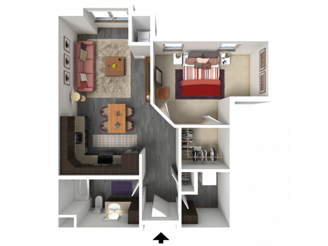 Floor Plan B7 | 1 Glenn Place | Apartments in Fitchburg, WI