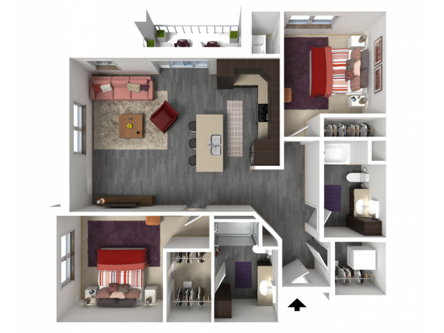 Floor Plan D1 | 1 Glenn Place | Apartments in Fitchburg, WI