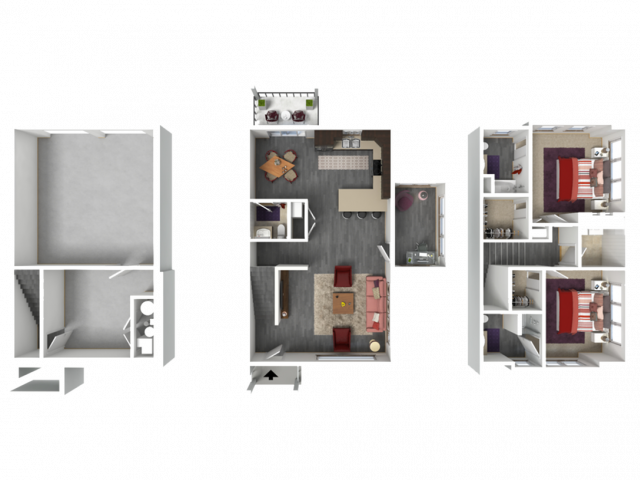 Floor Plan TD2 | 1 Glenn Place | Apartments in Fitchburg, WI