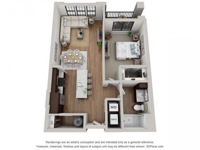 Floor Plan 1A | Arrabelle Apartments | Apartments in Cedarburg, WI