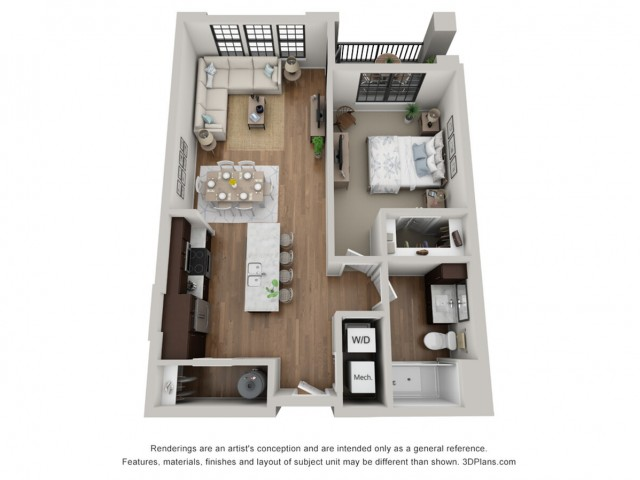 Floor Plan 1A ADA | Arrabelle Apartments | Apartments in Cedarburg, WI