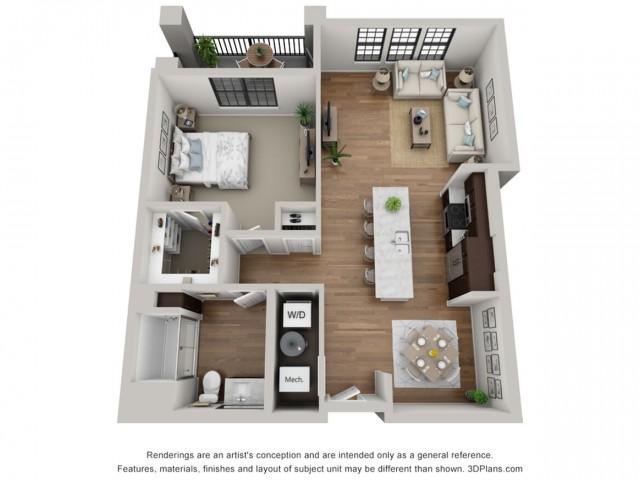 Floor Plan 1C | Arrabelle Apartments | Apartments in Cedarburg, WI