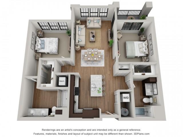 Floor Plan 2A | Arrabelle Apartments | Apartments in Cedarburg, WI