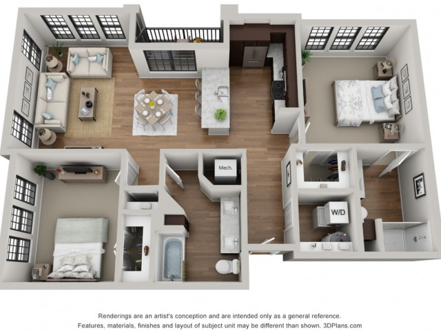 Floor Plan 2C | Arrabelle Apartments | Apartments in Cedarburg, WI