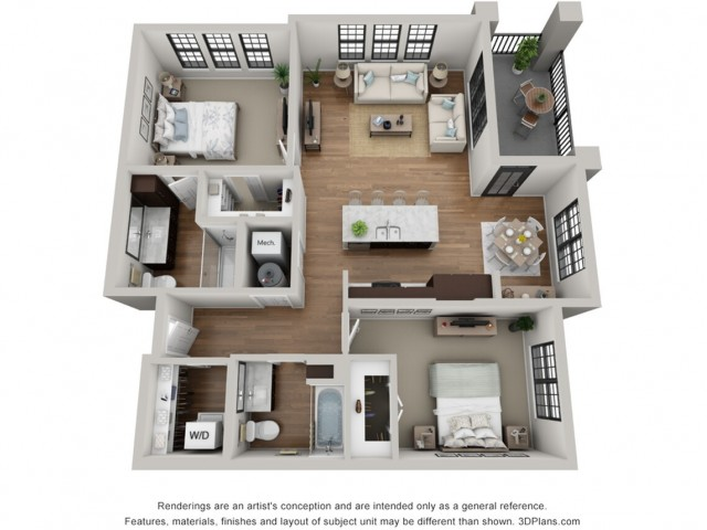 Floor Plan 2D | Arrabelle Apartments | Apartments in Cedarburg, WI