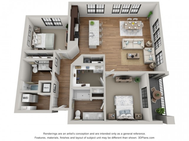 Floor Plan 2G | Arrabelle Apartments | Apartments in Cedarburg, WI