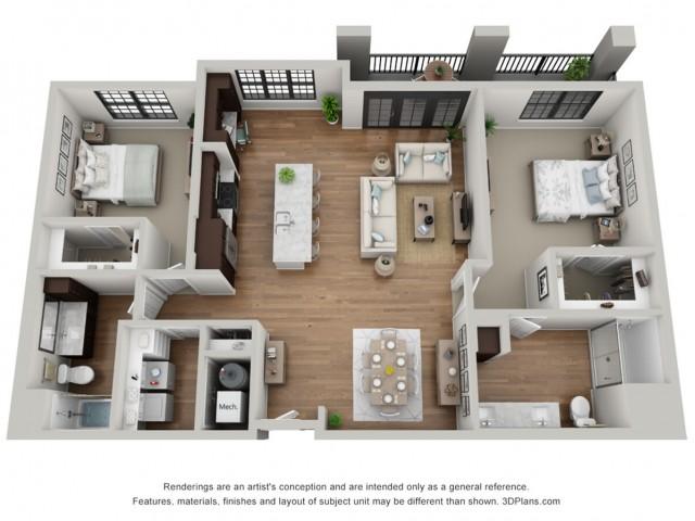 Floor Plan 2H | Arrabelle Apartments | Apartments in Cedarburg, WI