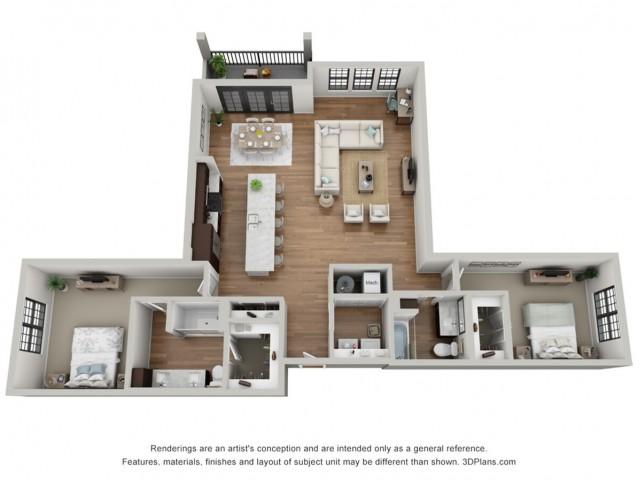 Floor Plan 2I | Arrabelle Apartments | Apartments in Cedarburg, WI