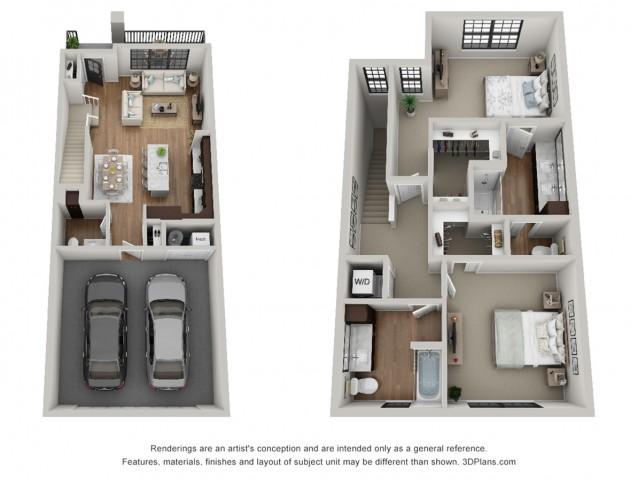 Floor Plan 2T | Arrabelle Apartments | Apartments in Cedarburg, WI