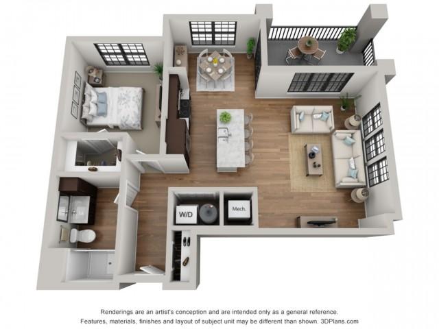 Floor Plan 1B | Arrabelle Apartments | Apartments in Cedarburg, WI