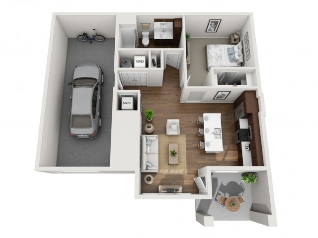 Floor Plan 1C | Seasons at Orchard Hills | Apartments in Oak Creek, WI