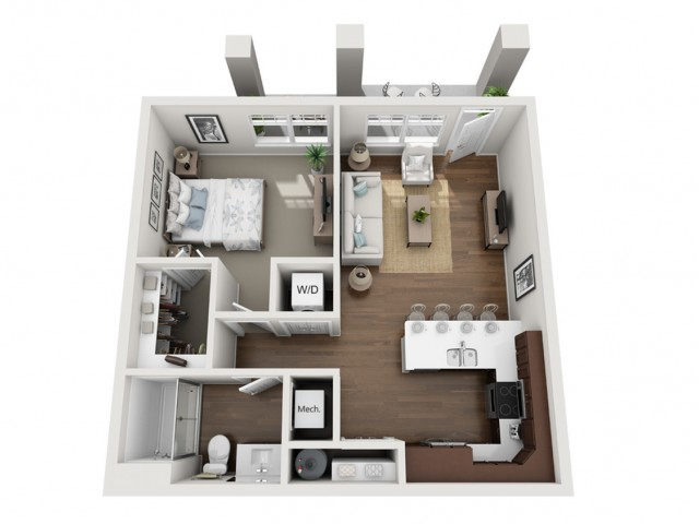 Floor Plan 1H | Seasons at Orchard Hills | Apartments in Oak Creek, WI