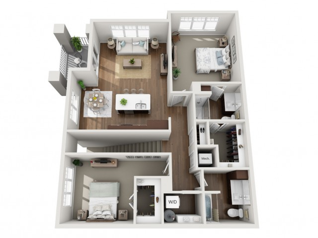 Floor Plan 2C | Seasons at Orchard Hills | Apartments in Oak Creek, WI