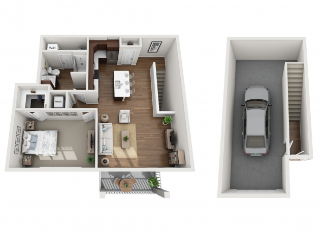 Floor Plan 1M | Seasons at Orchard Hills | Apartments in Oak Creek, WI